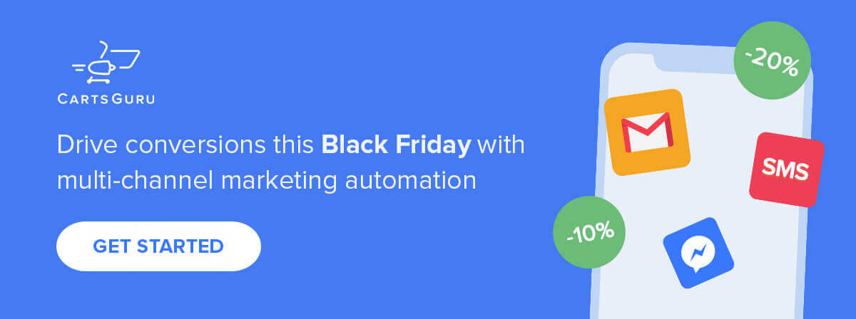 Black Friday marketing CTA