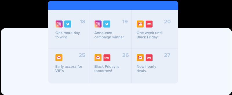 Black Friday marketing campaign calendar