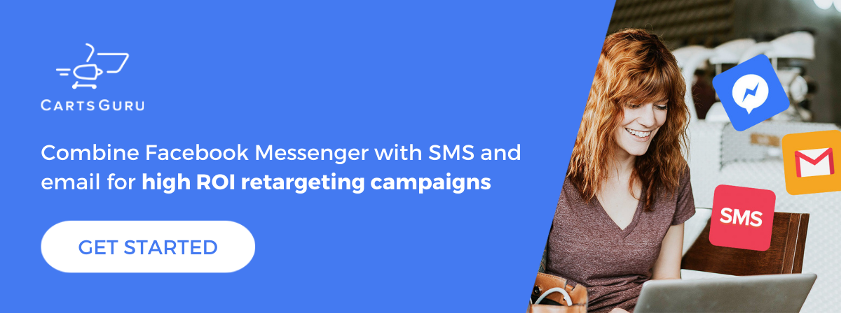 Facebook Messenger retargeting CTA