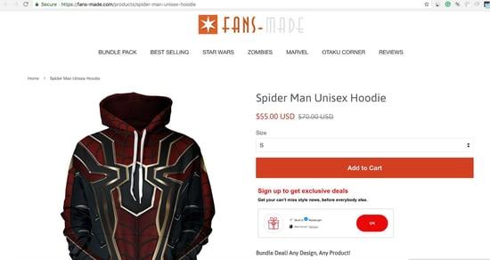 E-shop Hoodie Product