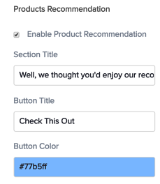 email product recommandation