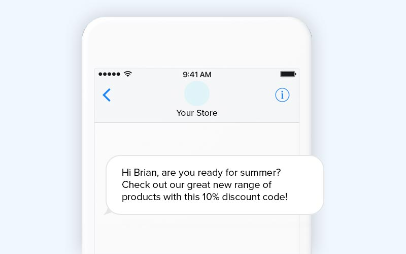 Ecommerce SMS marketing template