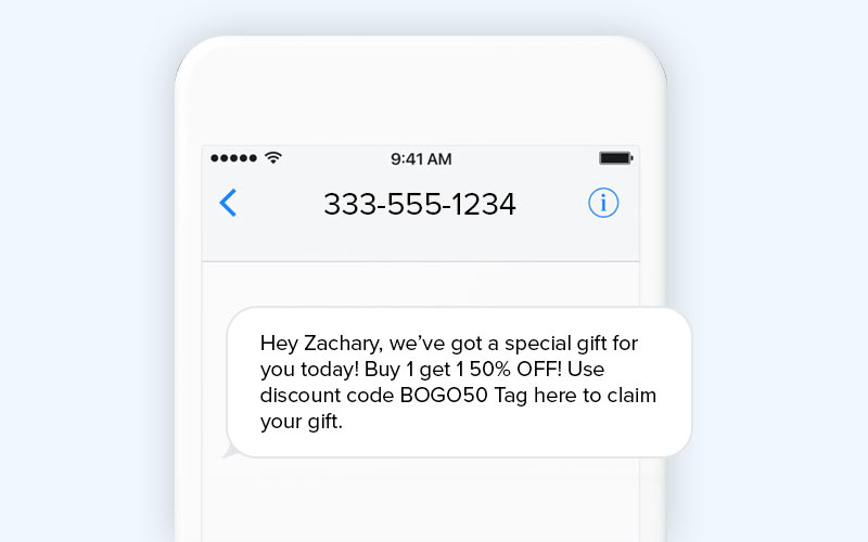 SMS marketing long code number