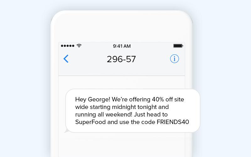 SMS marketing short code number