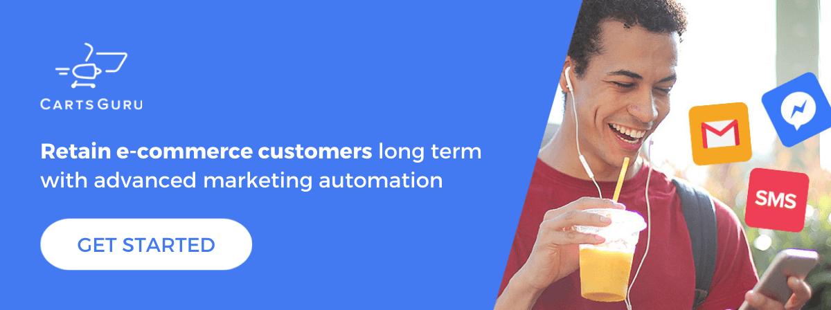 eCommerce customer retention CTA