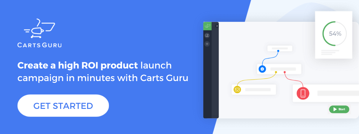 eCommerce product launch CTA