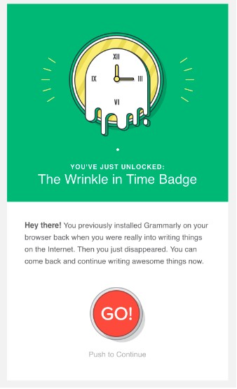 grammarly winback campaign example