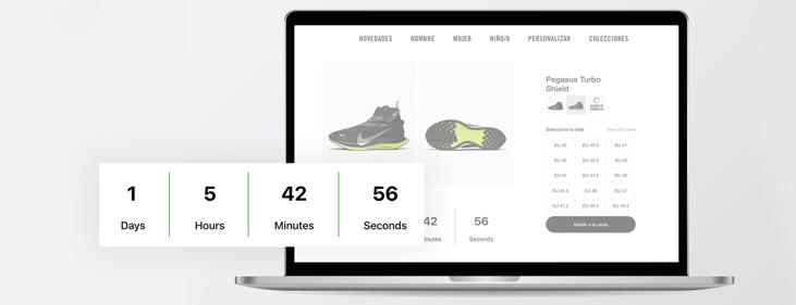 Countdown widget to boost urgency